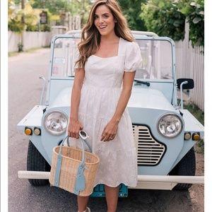 GMG Anthropologie Violetta Midi White Dress